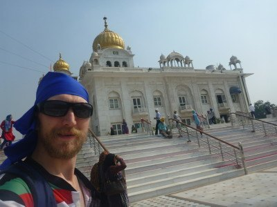 Touring Bangla Sahib in New Delhi, India