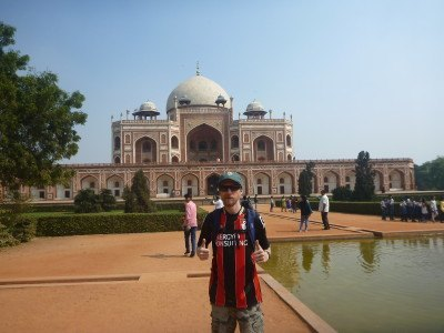 Touring Humayun's Tomb in New Delhi, India