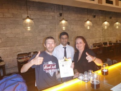 Beer and cider tasting in White Owl Mumbai, India