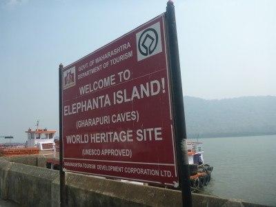 Arrival at Elephanta Island