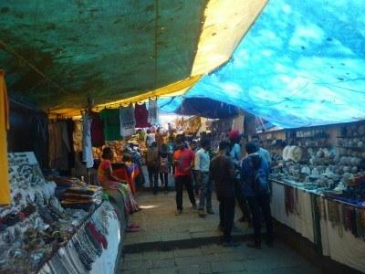 The market area at Elephanta Caves