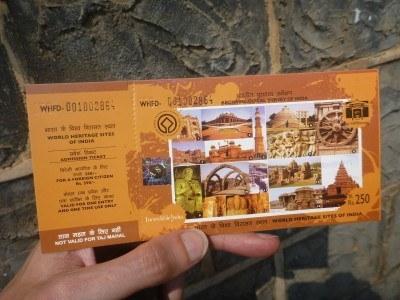 Ticket for Elephanta Caves