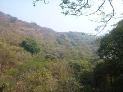 Hills and views at Elephanta Caves
