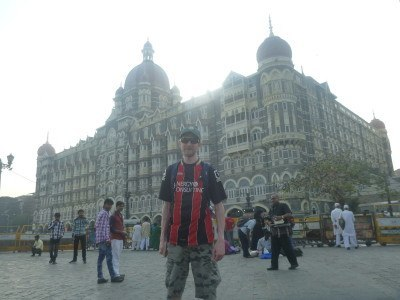 Outside the Taj Mahal Palace Hotel