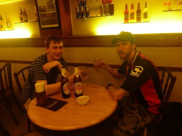 Beers with Joe from England in Mumbai, India