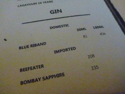 Bombay Sapphire in Bombay