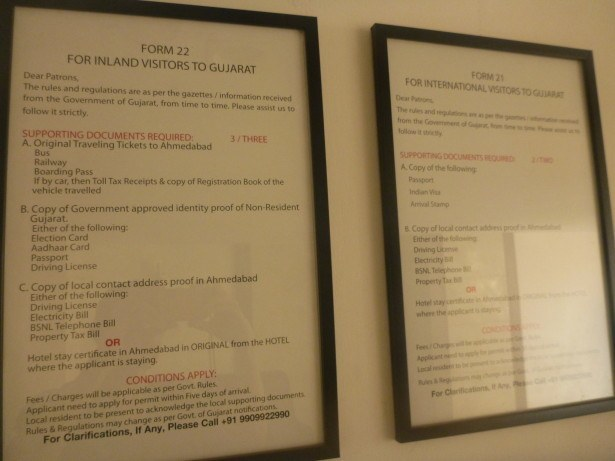 Information boards for applying for the permit