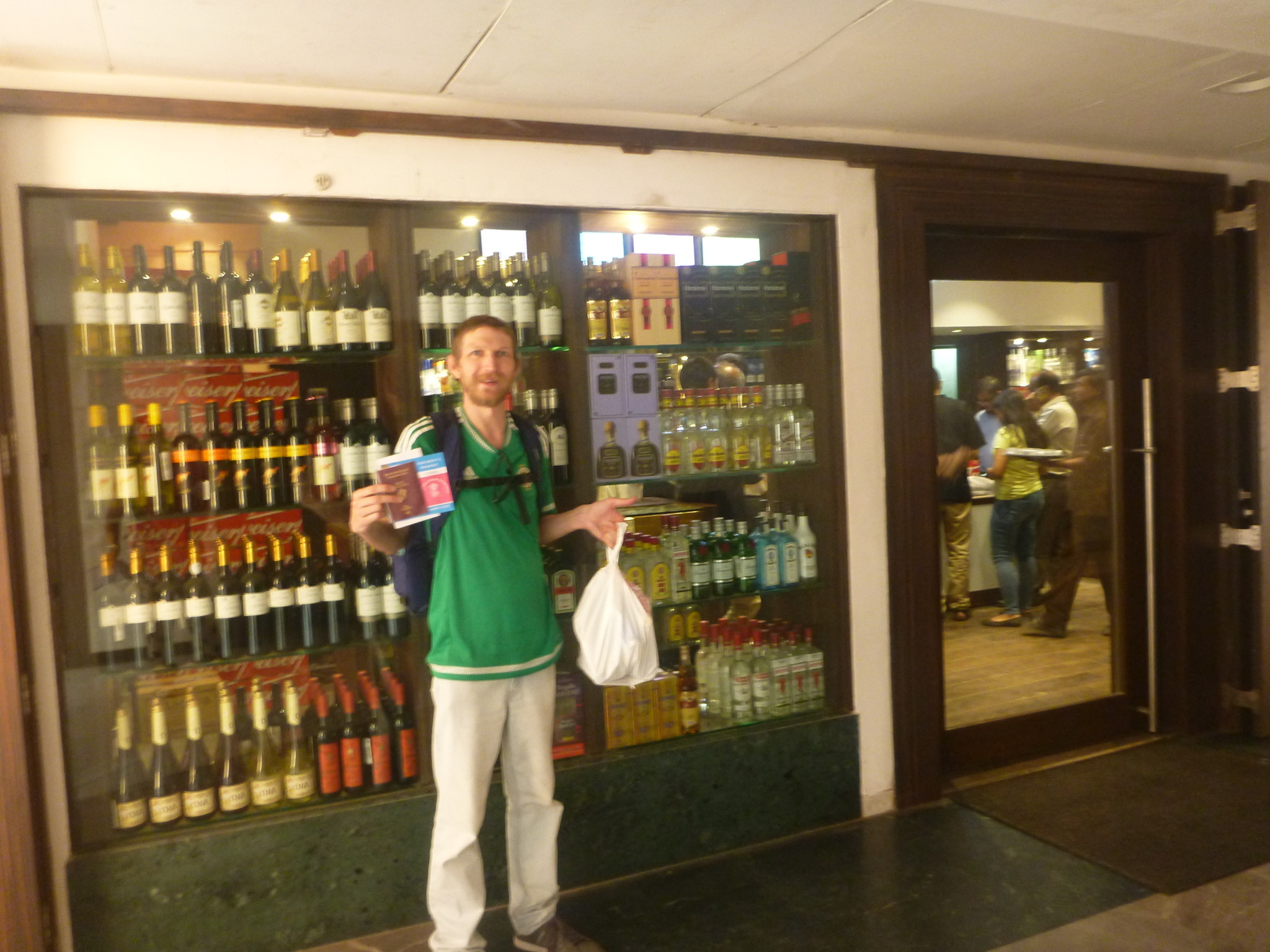 how to get an alcohol permit at the grand bhagwati hotel in