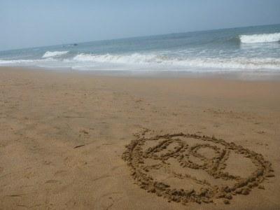 Anjuna Beach Goa and the DSL globe
