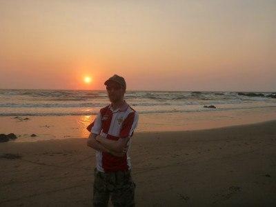 Sunset on Vagator beach