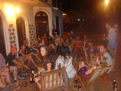 A huge party at Jungle Hostel