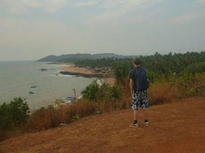 Admiring Anjuna Beach