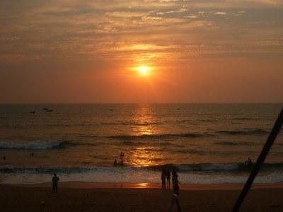 "Sunfall at Vagator Beach in ""Hippy Goa"""