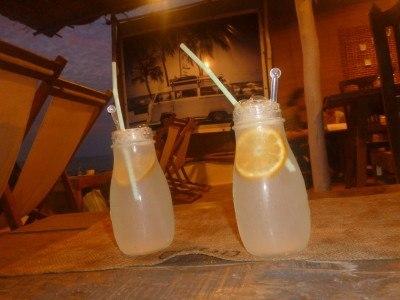 Drinks in North Goa. Fresh lime sodas.