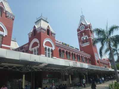Arrival at Chennai train station in India