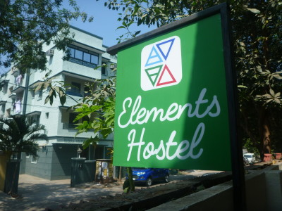 Elements Hostel on a quiet street