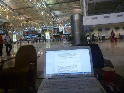 Working at Chennai Airport