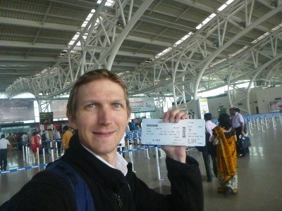 Checked in for the CHENNAI BLAIR flight