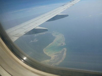 Coming into land in the Andaman Islands