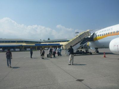 Arrival at Port Blair international airport
