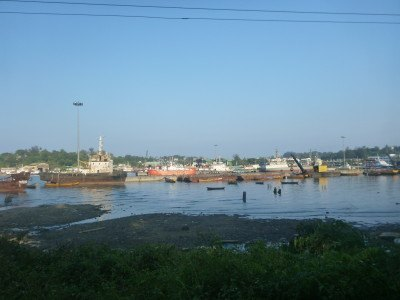 The harbour at Port Blair
