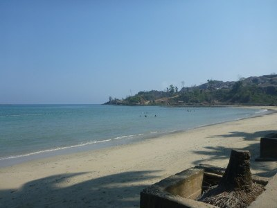 The gorgeous private beach at Peerless Sarovar Portico