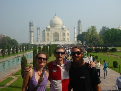 With Terri and Joel at the Taj Mahal