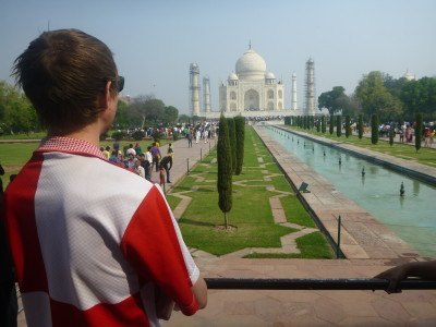 Touring the Taj Mahal, Agra, India