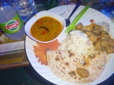 Dinner at Big Brother hostel