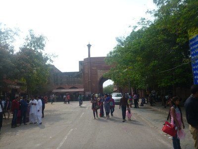 Taj Mahal at East Gate entrance