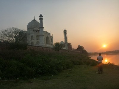 Sunset at the Taj Mahal
