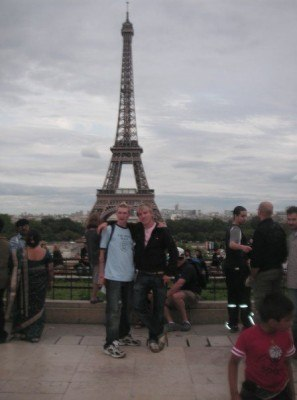 Rene and I at Tour Eiffel