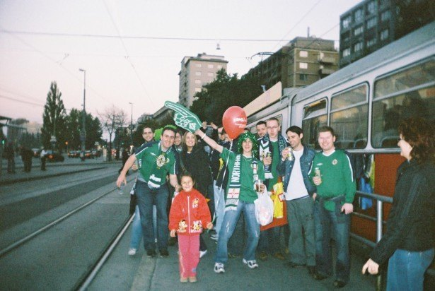 With the GAWA watching Northern Ireland play Austria in Vienna in 2005