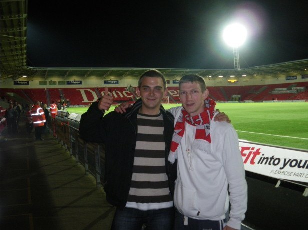 Chris Knoxville Bilsland and I at Doncaster Rovers FC a few years back