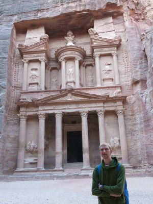 Doing the Indiana Jones tour at Petra, Jordan