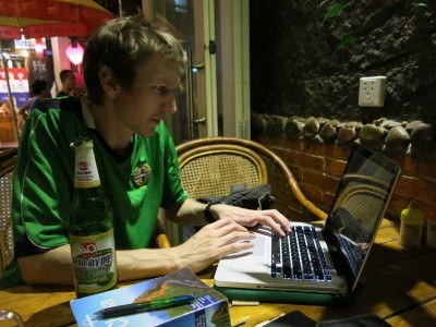 Working in Yangshuo, China