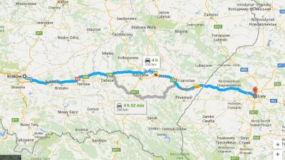 Krakow to Lviv Poland to Ukraine border