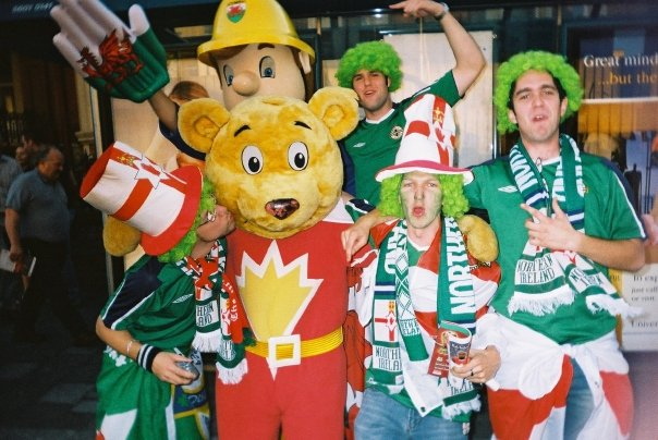 Watching Northern Ireland play Wales in Cardiff in 2004