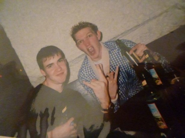 When we were young: Millwall Neil and I. Good times.