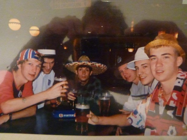 Silly hats night with the lads in Bournemouth. Alan Connell Alan.