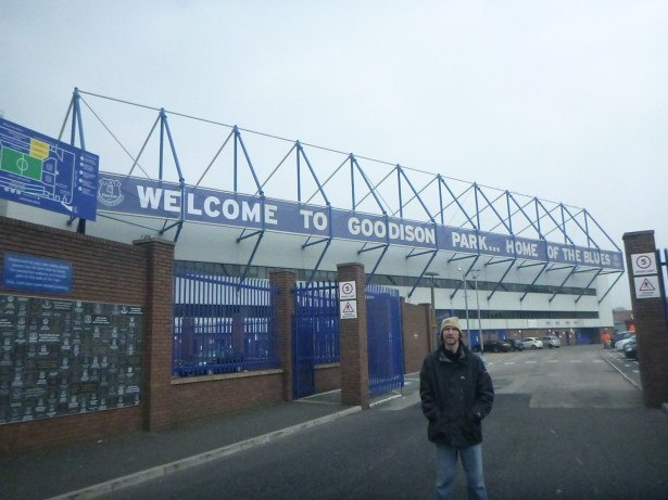 I'll be returning to Goodison Park, Liverpool home of Everton FC