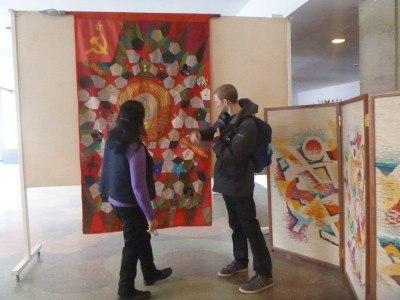Backpacking in Bishkek - touring the art museum