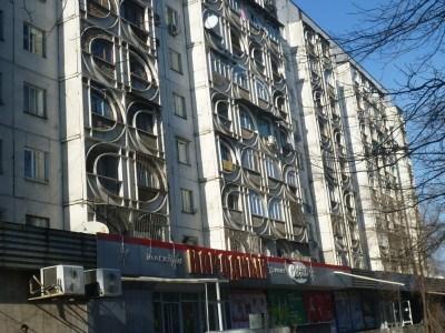 Soviet buildings in Bishkek, Kyrgyzstan