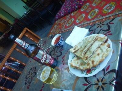 Dinner in Qhiva at Rustamboy