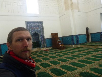 Touring the Khwaja Ahmad Yasavi UNESCO site in Turkistan, Kazakhstan
