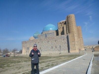 Touring the Khwaja Ahmad Yasavi UNESCO site in Turkistan, Kazakhstan