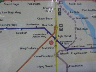 Backpacking in India: How to get From New Delhi International Airport to the City Centre