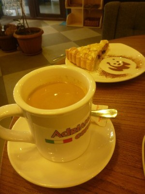 Coffee and cake at Adriano
