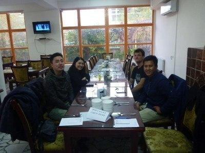 The pub crawl started in Daamduu restaurant