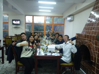 Group photo in Daamduu Restaurant